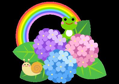 虹とあさがお